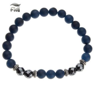 Fiell Kralen Armband Natural Stone Blue 21cm kopen