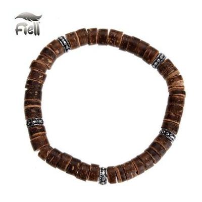 Fiell Armband Houten Kralen Bruin 19cm kopen