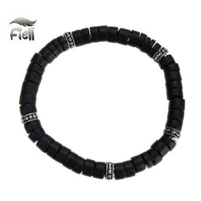 Fiell Armband Houten Kralen Zwart 19cm kopen