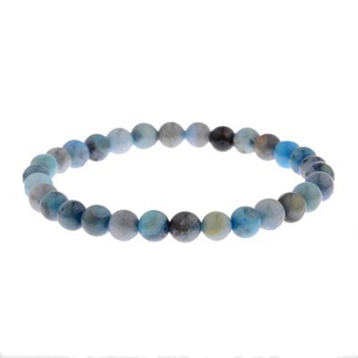 Kralen Armband Natural Stone Light Blue 17-19cm kopen