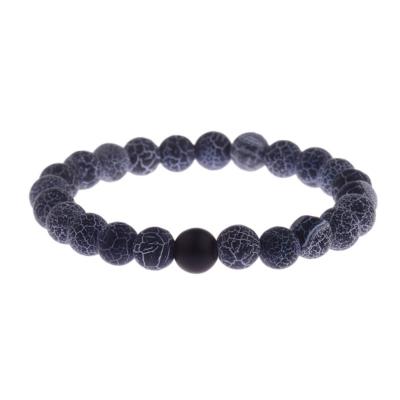 Kralen Armband Natural Stone Weathered Black 17-19cm kopen