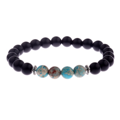 Kralen Armband Natural Stone Turquoise Design 17-19cm kopen