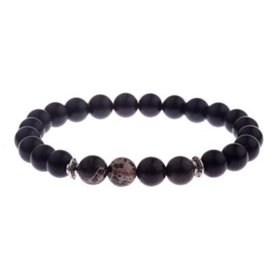 Kralen Armband Natural Stone Black Design 17-19cm kopen