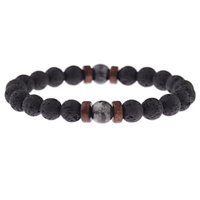 Kralen Armband Natural Stone Vintage Black  17-19cm kopen