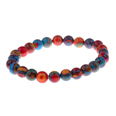Kralen Armband Natural Colorful 17-19cm kopen
