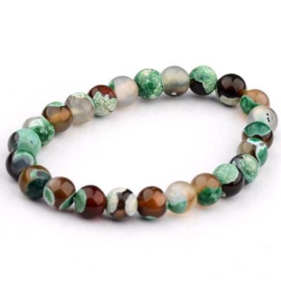Kralen Armband Natural Stone Green/Brown 17-19cm kopen