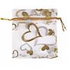 Cadeau Verpakking Wit met Goudkleurige Hartjes