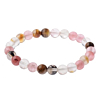 Heren Kralen Armband Natural Stone Roze/Brown 18-21cm