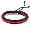 Heren Gevlochten Armband Black/Red 17-21cm