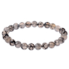 Heren Kralen Armband Natural Stone Black/Grey 18-21cm