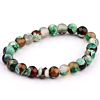 Heren Kralen Armband Natural Stone Green/Brown 17-19cm