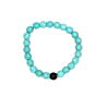 Heren Kralen Armband Natural Stone Turquoise/Black 17-19cm