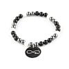 Pinkiezz Kralen Armband Zwart Infinity 18cm