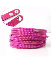 Kristal Wrap Armband Roze -
