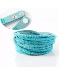 Kristal Wrap Armband Turquoise -