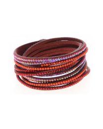 Kristal Wrap Armband Rood -