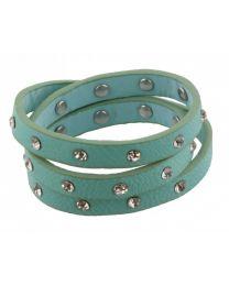 Wikkel Armband Diamant Studs Groen -