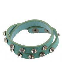 Wikkel Armband Grove Diamant Studs Groen -