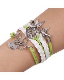 Lederen armbandje 'Levensboom' -