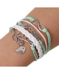 Lederen armbandje -