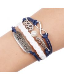 Lederen armbandje Believe -