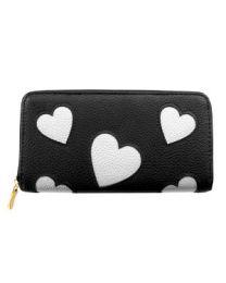 Portemonnee Silver Heart Black -