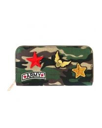 Portemonnee Patches Army Green Brown -
