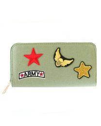 Portemonnee Patches Army Khaki Green -