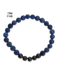 Fiell Heren Armband Natural Stone Blue 21cm -