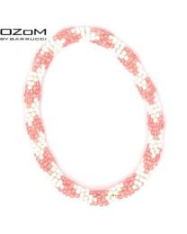 OZOM by Barrucci Roll-On Bracelet Pink/Silver -