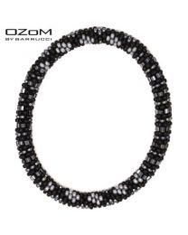 OZOM by Barrucci Roll-On Bracelet Black/Silver -