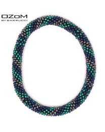 OZOM by Barrucci Roll-On Bracelet Blue/Turquoise -
