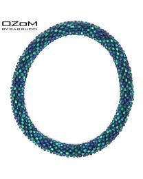 OZOM by Barrucci Roll-On Bracelet Blue/Green -
