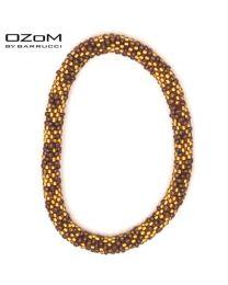 OZOM by Barrucci Roll-On Bracelet Gold/Brown -