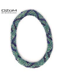 OZOM by Barrucci Roll-On Bracelet Lightblue/Stripe -