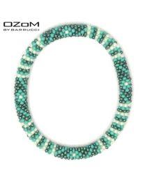 OZOM by Barrucci Roll-On Bracelet Flower Green -