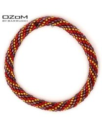 OZOM by Barrucci Roll-On Bracelet Red/Gold -
