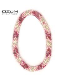OZOM by Barrucci Roll-On Bracelet Triple Pink -