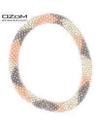 OZOM by Barrucci Roll-On Bracelet Grey Pink Silver -