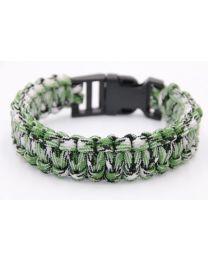 Paracord Heren Armband Black Green White -