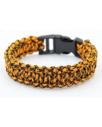 Paracord Heren Armband Black Orange -