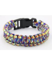 Paracord Heren Armband Blue/Green/Red -