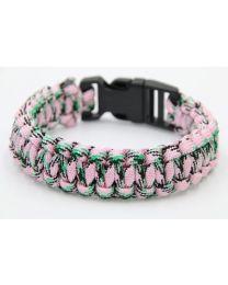 Paracord Heren Armband Black/Green/Pink -