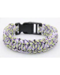 Paracord Heren Armband Green/Purple/Black -