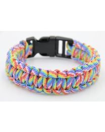 Paracord Heren Armband Rainbow -