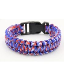 Paracord Heren Armband Red/White/Blue -